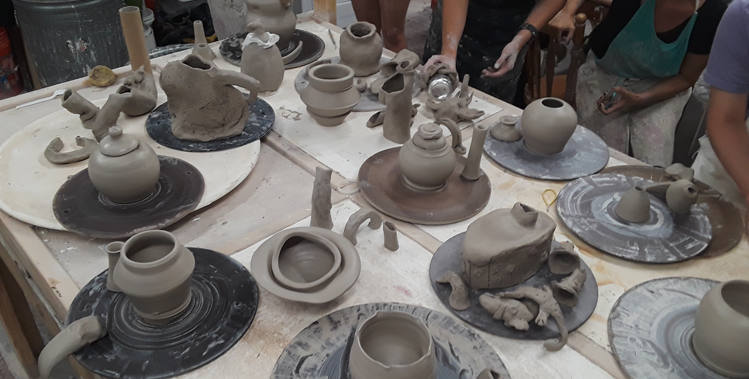Louisville Clay Members Make Elaborative/Collaborative Teapots