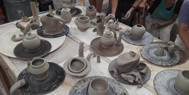 Louisville Clay Members Make Elaborative/Collaborative Teapots